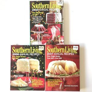 3 SOUTHERN LIVING Annual Recipes Cookbooks